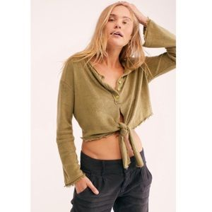 NWT Free People Emma's Henle Top